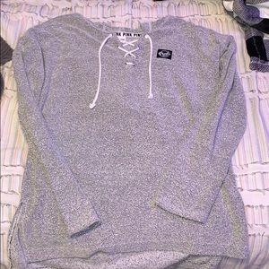 hooded PINK shirt